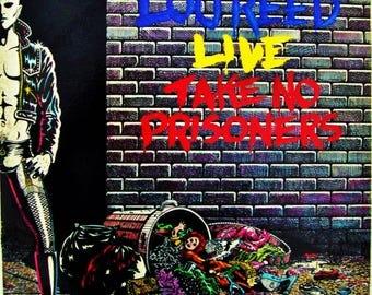 LOU REED Live, Vinyl Record Take No Prisoners Double Live LP Album 1978 Gatefold Cover Velvet Underground Condition Ex/Vg++ Original Press