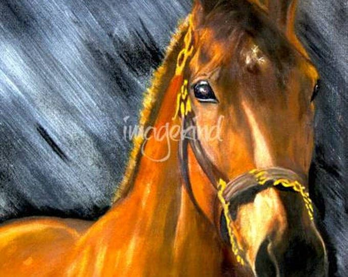 Kentucky, Americn Pharaoh Triple Crown Winner Giclee Print on Fine Art Paper or Canvas