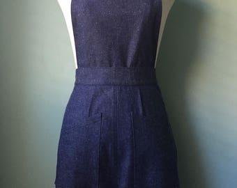 1930s 30s 1940s 40s vintage style DETACHABLE denim overalls sample sale  XS-S