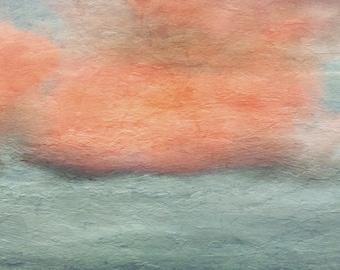 Cloud Art - Abstract Sunset Wall Art - Shabby Chic Decor