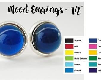 """Mood Earrings - Color Changing Earrings - Stud Earrings - 1/2"""""""