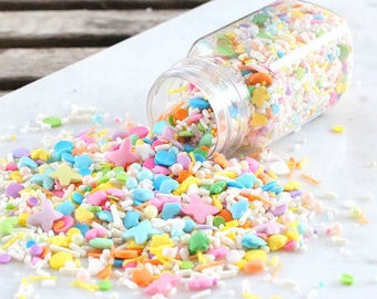 Sprinklefetti Pastel Sprinkles Mix, Edible Sprinkles, Pastel Rainbow Sprinkles, Sugar Pearls, Cake Sprinkles, Cupcake Sprinkles, Quins