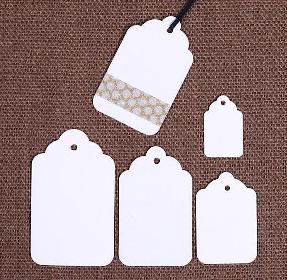 Bulk Small White Gift Tags Christmas Wedding Favor