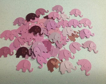 50 pc Paper Elephants  Pinks  Rose New Baby    Birthday