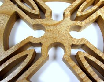 Cross / Celtic Style / Wall Decor / Ash Wood