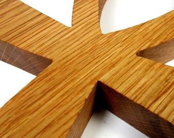 Ankh Cross / Egyptian Symbol / Life / LARGE / Red Oak Wood