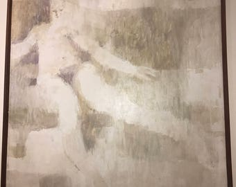 Original Female Nude Joe Testa Secca Vintage Painting