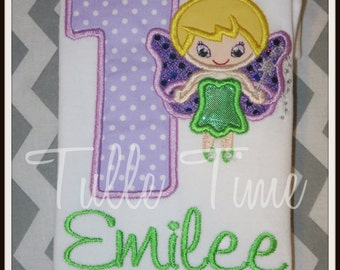 Personalized Tinkerbell Princess number birthday shirt 1st 2nd 3rd 4th 5th All sizes
