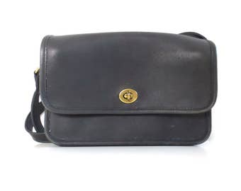 Vintage Coach Navy Crossbody Bag // Made in the United States