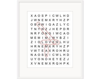 Circle Word Puzzle - customised
