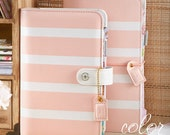 Blush Stripe Webster's Pages Color Crush Personal Planner Kit UNDATED Calendar • Free Washi Tape with this order