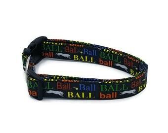Ball Chaser Black Dog Collar Did someone say Balls