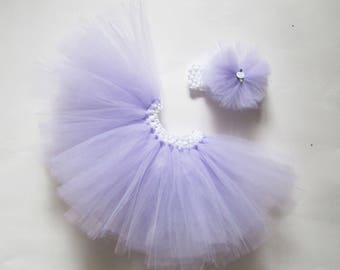 Baby girl tutu, easter tutu, lilac tutu