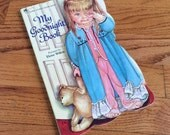 Vintage 1980s Childrens Book / My Goodnight Book by Eloise Wilken 1981 Boardbook / Golden Sturdy Shape Book981