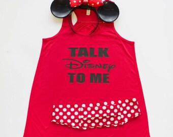 Disney Flowy Tank.  Talk Disney to me.  Great for disney trips or disney run, princess run, theme park fun day!  Run Bella Tank Top Shirt