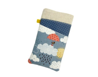 iPhone 8 Sleeve, SE Pouch, iPhone X Case, Rain and Clouds, iPhone 7 Sleeve, 8 Plus case, iPod Pouch, Fabric Phone Sleeve, iPhone 5 Case