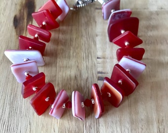 Sea glass in red