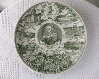 "Vintage Chatsworth Illinois Area Centennial Plate 1867 - 1967 Decorative Collector 10"" Central Illinois Midwest History"