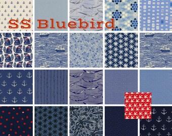 SS Bluebird - Fat Quarter Bundle by Cotton + Steel - Collaborative Design (19 pieces)