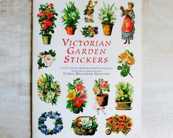 Victorian Garden Stickers Dover Publications Full Color
