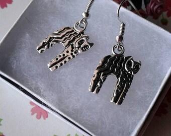 Cat Earrings,Tabby Cat Earrings,House Cat,Pets