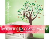 Mothers Day Sale - SALE Today ONLY!  Use Coupon Code SIMPLESHAPES10 for 10% off -  Tree with Two Owls and Butterflies Decal Set - Nursery...
