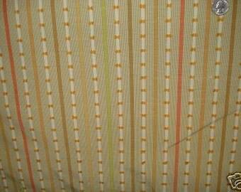 LIZ CLAIBORNE STRIPE Melon Pink Green Gold Cream Upholstery Fabric, 28-47-09-106