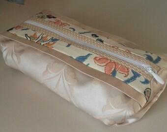 Silk Make up Bag, Pencil Case, Pen Pouch, Makeup Bag, Luxury present