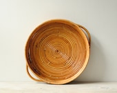 Vintage Bamboo Tray, Serving Tray