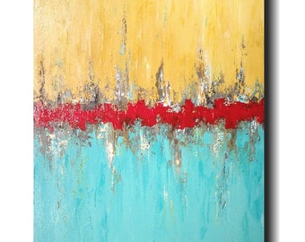 Original Large Abstract painting - 24 X 36 -by Artist JMJartstudio- rise above-Wall art  -Oil painting - Textured