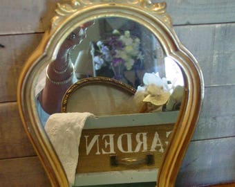 Hollywood Regency Mirror - Wall Mirror - Gold Mirror - Wall Art - French Farmhouse Mirror - Wall Mirror - Carved Wall Mirror