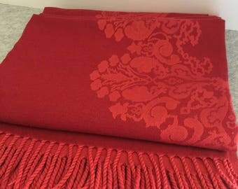 Gorgeous Vintage Restoration Hardware Damask Patterned Throw Blanket