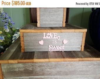 SALE BUNDLE rustic cupcake stand W/crates / rustic wedding / wedding decorations / table centerpiece / wood  cake stand / rustic cake stand