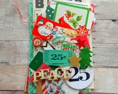 Christmas Inspiration Kit / Ephemera / 45+ Pieces / Daily Planner / December / Junk Journal