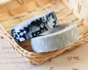 Flowers and Squirrel Classiky Ten to Sen washi masking tape set D