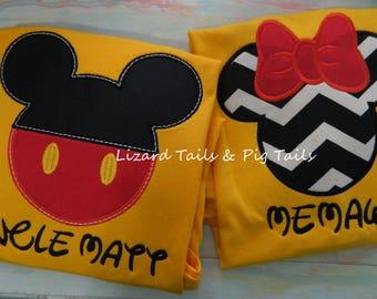 Traditional Mickey Minnie Shirt - Disney Vacation Shirt - Disney Cruise Shirt - Mickey Minnie Shirts