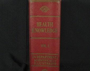 """Vintage Medical Book - """"Health Knowledge"""""""
