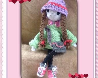 Crochet Doll, Amigurumi Doll, Girl Doll With Braids, Stuffed Doll, Girl Doll