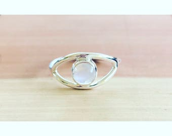 Third Eye Moonstone Ring