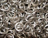 Bright Silver Aluminum Jump Rings, 1 ounce, 16 gauge 1/4 ID (6mm), Top Shelf Handmade SawCut chainmail, chain mail jumprings