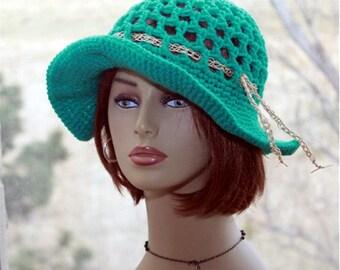Womens  hat, crochet  sun hat, summer hat, wide brim hat, lace hat, summer hat, crochet flapper hat, crochet sun hat, womens summer hat