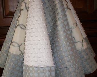 """58"""" Amazing White Cream and Silver Textured and Hand Beaded Reversible Christmas Tree Skirt  2017 Collection"""