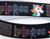 "5 Yards 5/8"" LuLaRoe  FOE Fold Over Elastic Hair Ties Unicorn DIY Wholesale Bulk Thank You Gifts Party Favors Business Cards LULAROE"