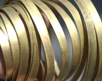 Brass Bezel Wire - Handmade - 6.5mm wide - 20 Gauge - 10 feet length
