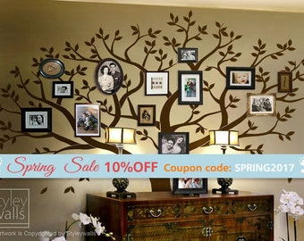 Family Tree Photo Wall family tree wall decal | etsy