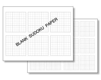 Blank Forms | Sudoku Printable Grids in Black, Red and Green - Blank SUDOKU