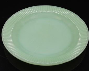 Fire King Jadeite Jane Ray Pattern 7 3/4 Inch Salad Plate