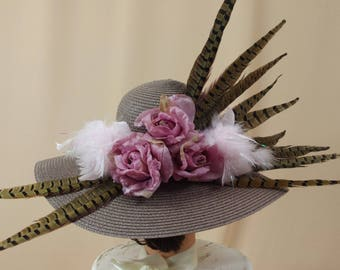 Mauve and Brown Hat * Kentucky Derby Hat * Church Hat * Ascot Hat * Formal Hat * Fashion Hat * Floppy Hat * Wide Brim Hat