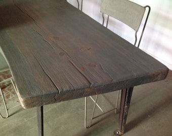 Live Edge Industrial Harvest Table