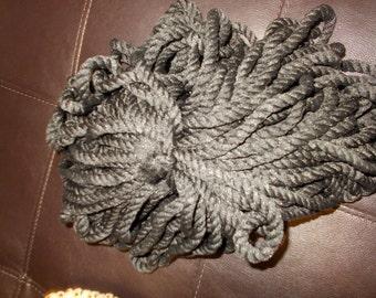 Vintage Macrame Yarn cord Black